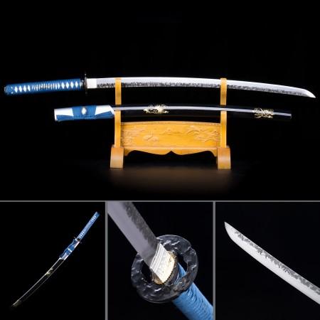 Handmade T10 Carbon Steel Black Saya Full Tang Real Japanese Katana Samurai Swords