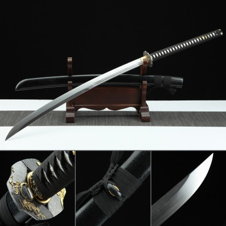 High-performance Handmade Folded Damascus Steel Real Naginata Samurai Swords