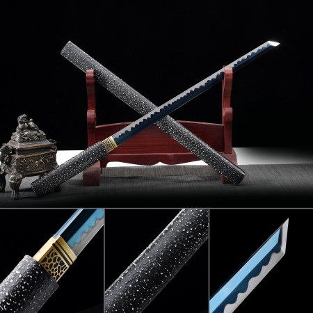 Handmade 1045 Carbon Steel Shirasaya Ninjato Shikomizue Blind Fury Stick Sword Without Tsuba