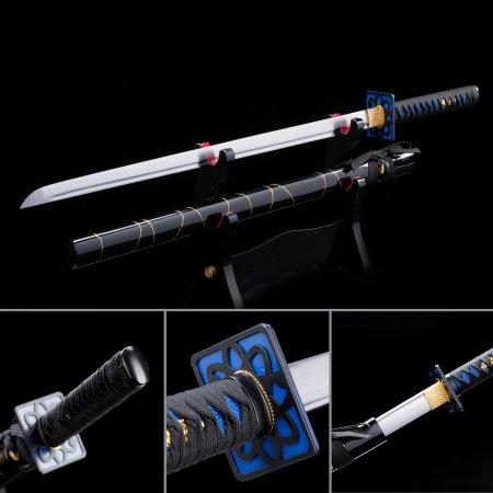 Handmade Spring Steel Straight Blade Chokuto Japanese Ninjato Ninja Swords With Square Guard Tsuba