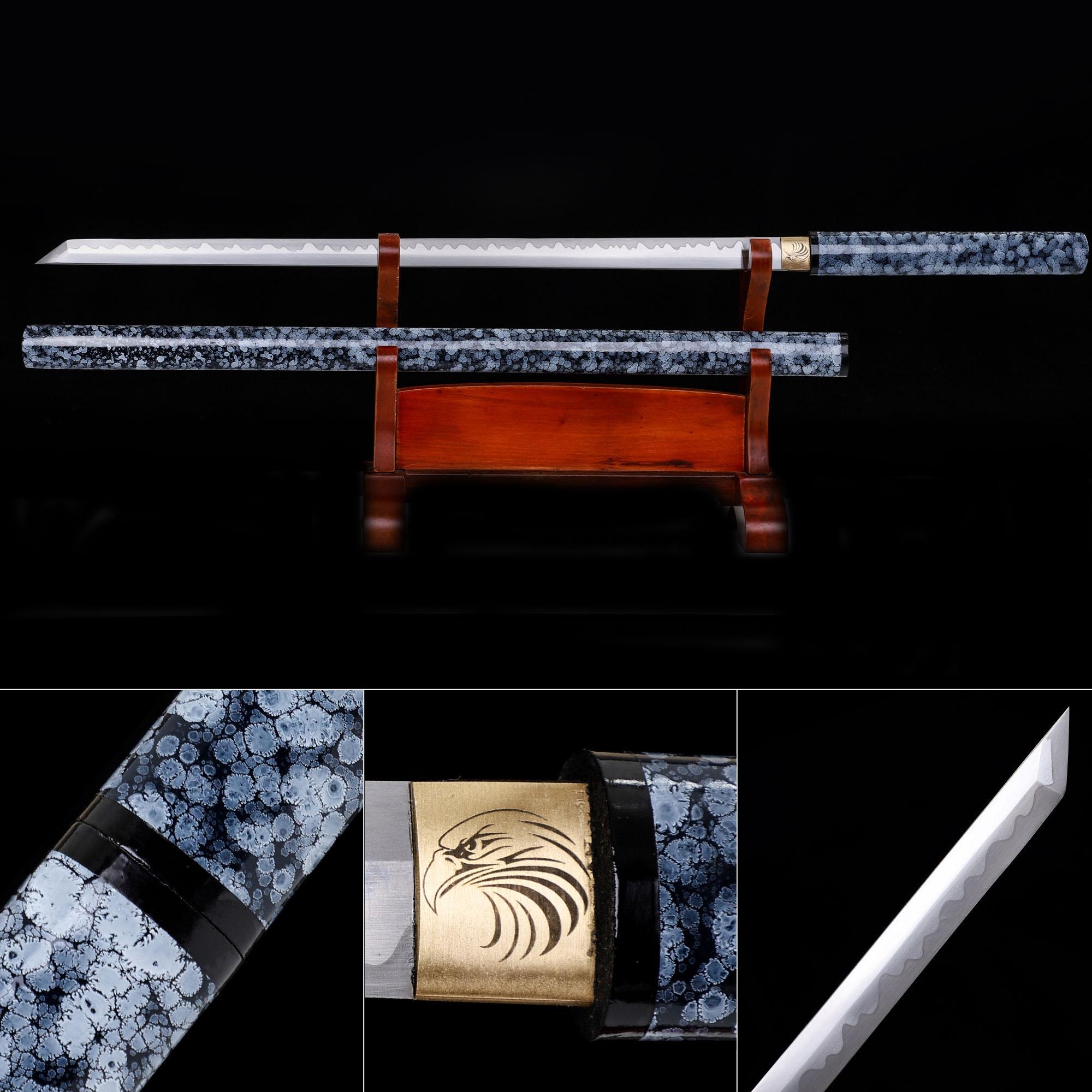 High Manganese Steel Japanese Shirasaya Ninjato Shikomizue Blind Fury Stick Swords Without Tsuba