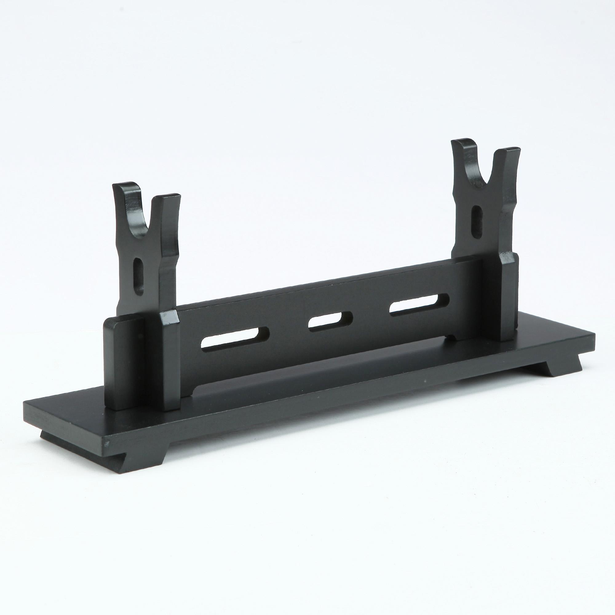 Handmade Black Wooden Single Tier Katana Sword Bracket Stand Holder Display Rack Stand