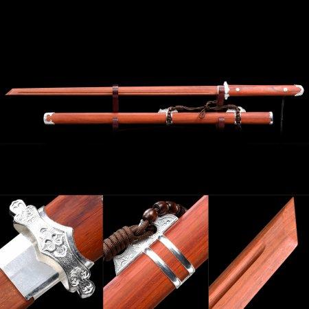 Handmade Rosewood Blade Unsharpened Japanese Ninjato Ninja Swords With Rosewood Scabbard