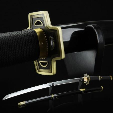 One Piece  Roronoa Zoro Yubashiri Katana Samurai Sword Replica With Black Scabbard