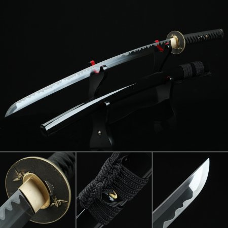 Handmade Gold Crane Tsuba Real Katana Japanese Samurai Swords