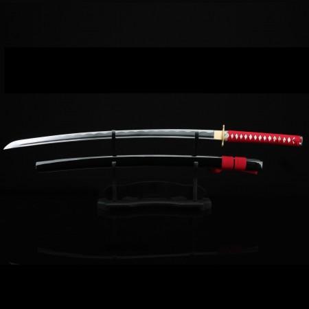 Handmade Japanese Samurai Sword 1045 Carbon Steel With Black Scabbard