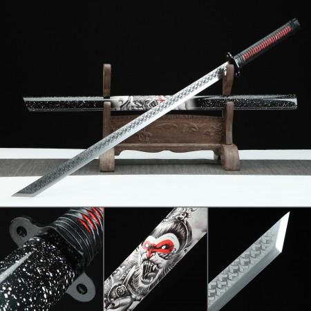 Handmade Manganese Steel Monkey King Theme Japanese Ninjato Real Ninja Swords