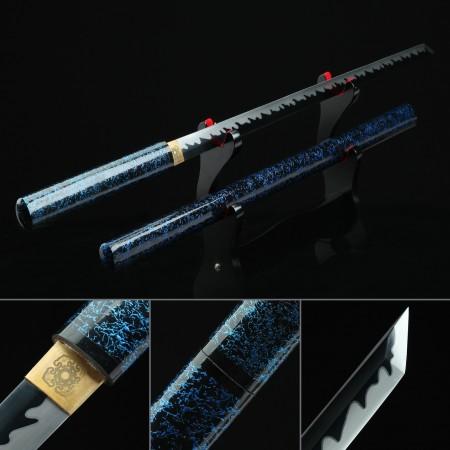 Handmade Spring Steel Japanese Shirasaya Ninjato Shikomizue Blind Fury Stick Swords Without Tsuba