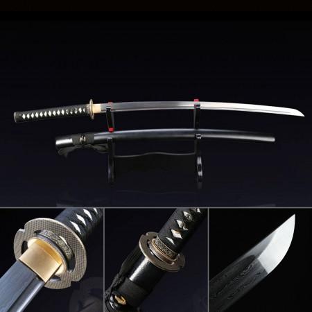 Handmade Damascus Carbon Steel Japanese Samurai Katata Sword