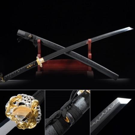 Hand Forged T10 Steel Real Hamon Full Tang Real Japanese Katana Samurai Swords