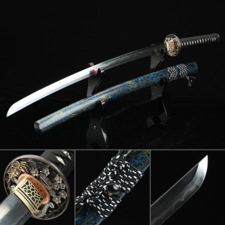 High-performance Damascus Steel Dragon Tsuba Real Hamon Hand Sharpening Real Katana Samurai Swords