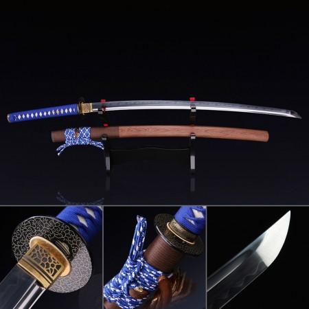 T10 Japanese Samurai Sword, Handmade Full Tang Real Katana Sword
