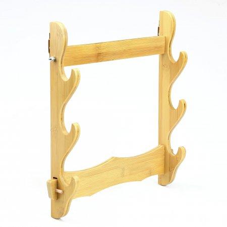 Handmade Natural Bamboo Wooden 3 Tier Katana Sword Stand Holder Display Rack Stand Wall Mount