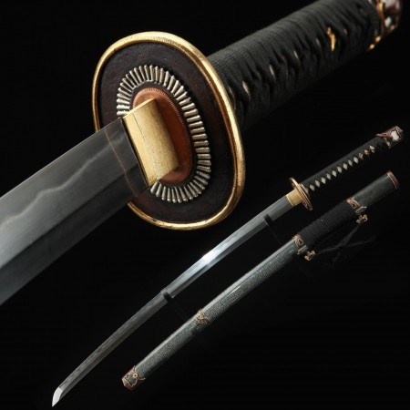 Japanese Tachi Odachi Sword With T10 Folded Clay Tempered Steel