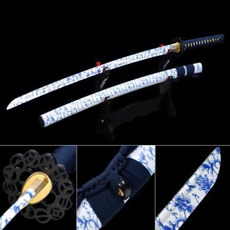 Handmade Aluminum White Blade Blunt Unsharpened  Practice Katana For Beginner Training