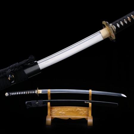 Black Katana, Handmade Full Tang High Manganese Steel Japanese Samurai Swords