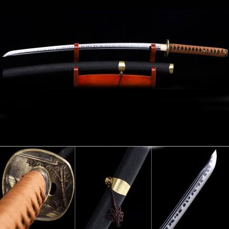 Handmade High Manganese Steel Horse Tsuba Real Japanese Katana Samurai Swords