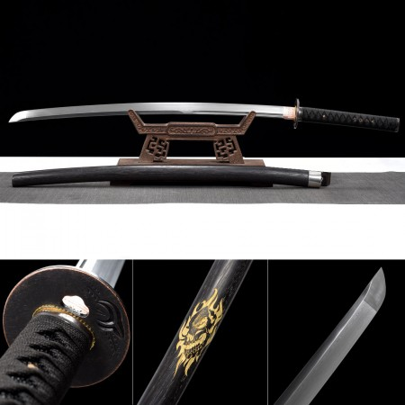 Handmade 608 Damascus Steel Hand Sharpening Katana Samurai Swords With Hardwood