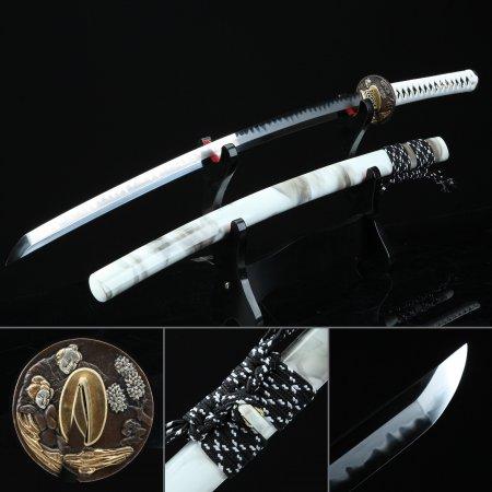 Handmade Japanese Old Man Tsuba T10 Carbon Steel Real Japanese Samurai Sword