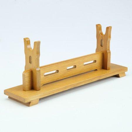 Handmade Natural Bamboo Wooden Single Tier Katana Sword Bracket Stand Holder Display Rack Stand