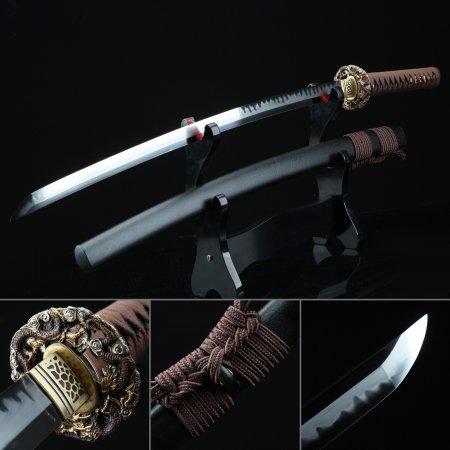 Handmade Dragon Katana T10 Carbon Steel Real Japanese Samurai Sword