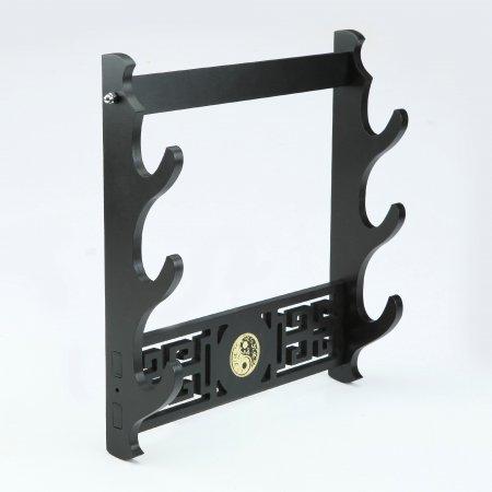 Handmade Back Wooden 3 Tier Katana Sword Stand Holder Display Rack Stand Wall Mount