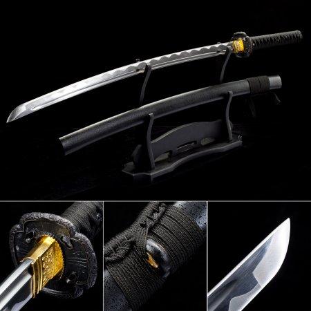 Japanese Swords, Handmade Katana Samurai Swords With Black Scabbard