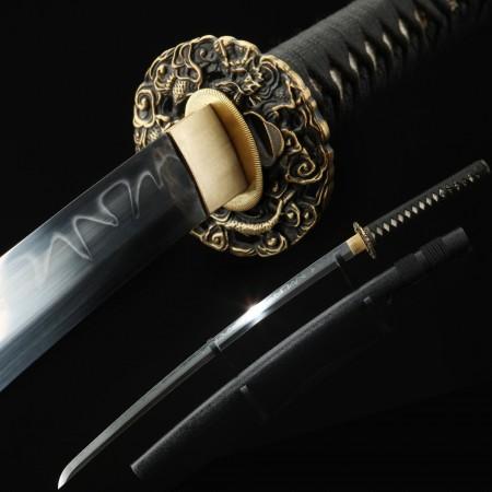 Handmade Gold Weever Tsuba Real Katana Japanese Samurai Swords