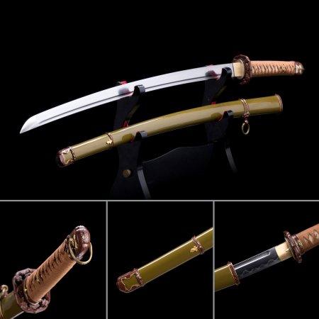 High-performance Real Hamon Uomatsu Ichinori Wwii Japanese Army Type 98 Shin-gunto Katana Swords