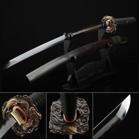 Battle Ready Katana, Authentic Japanese Katana Damascus Steel Tactical Swords