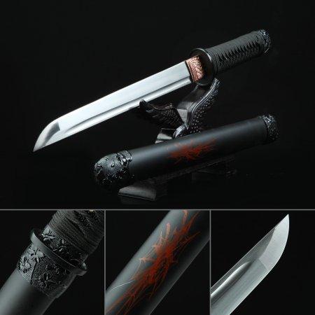 Handmade High Manganese Steel Real Japanese Samurai Hamidashi Tanto Swords