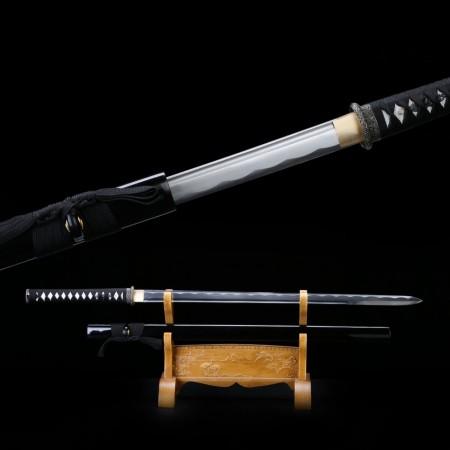 Fully Handmade Real Straight Japanese Katana Ninja Samurai Swords