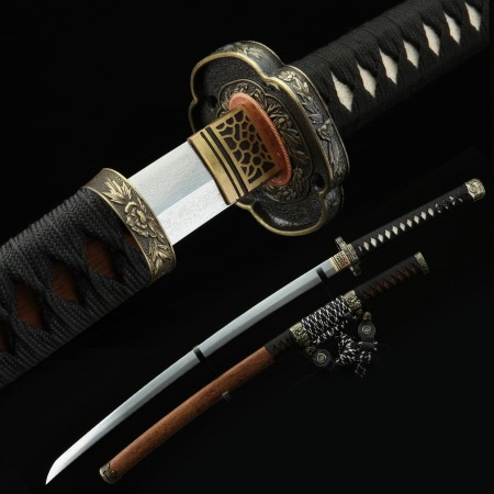 Japanese Tachi Odachi Sword 1045 Carbon Steel With Brown Scabbard