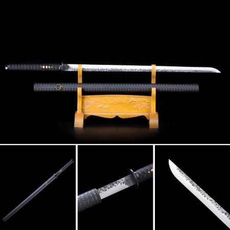 Handmade High Manganese Steel Black Saya Full Tang Real Japanese Ninjato Ninja Swords