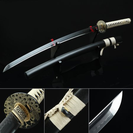 Handmade T10 Carbon Steel Real Katana Japanese Samurai Sword