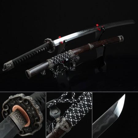 High-performance Pattern Steel Real Hamon Japanese Katana Samurai Swords With Brown Scabbard