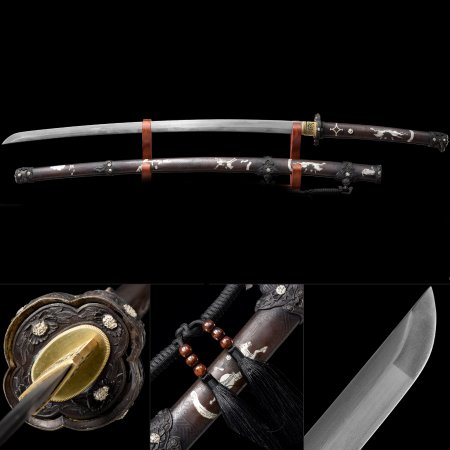 High-performance 1000 Layer Folded Steel Real Japanese Samurai Katana Sword With Copper Scabbard