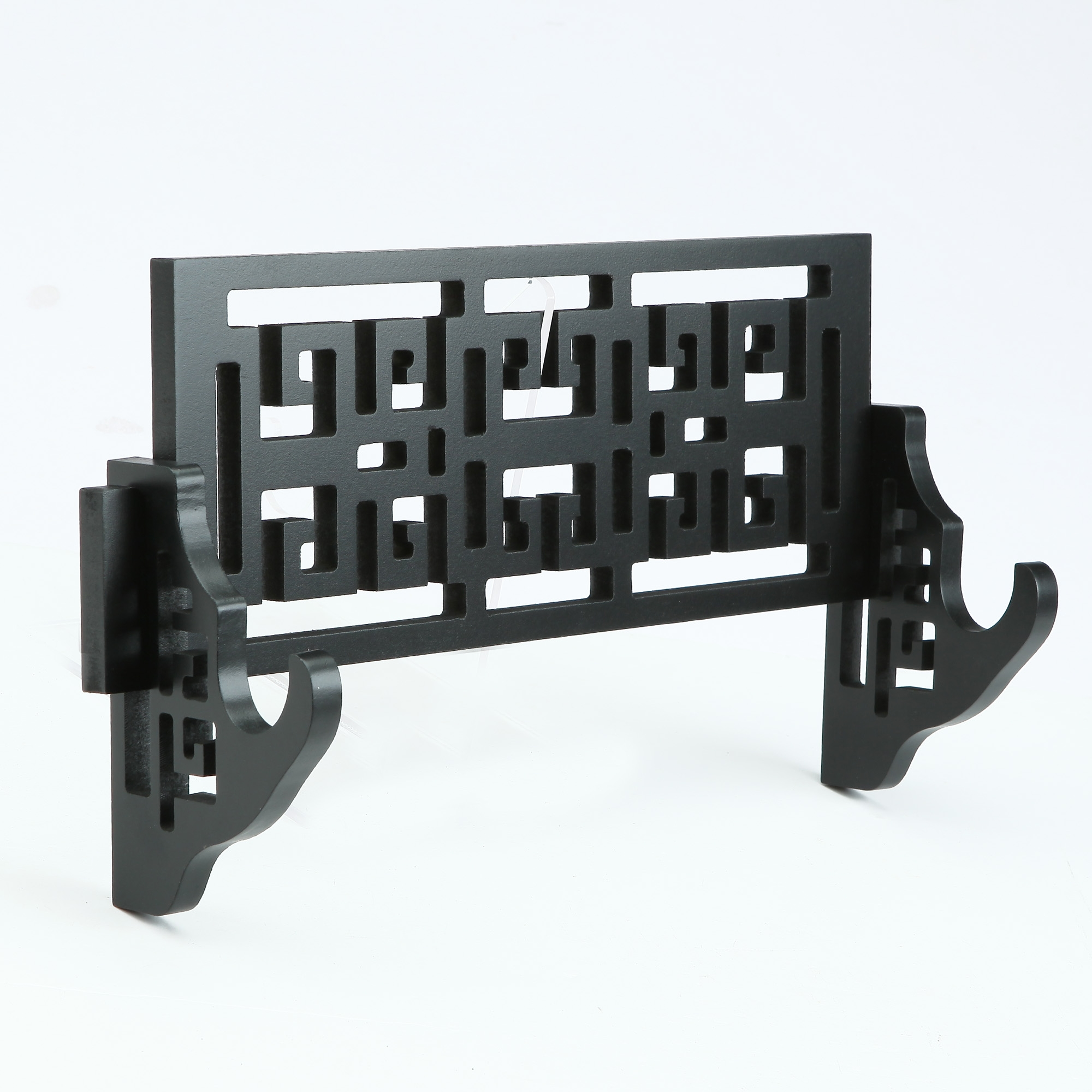 Handmade Black Wooden Single Tier Katana Sword Stand Holder Display Rack Stand Wall Mount