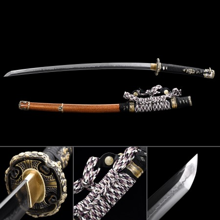 Battle Ready Katana, Authentic Katana T10 Folded Clay Tempered Steel Sharpened Tactical Swords
