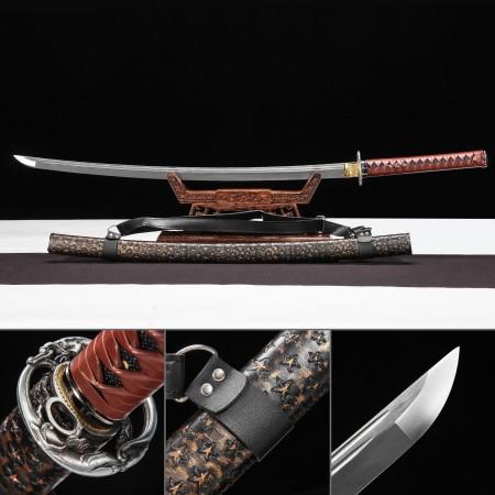 Handmade 1045 Carbon Steel Full Tang Real Japanese Katana Samurai Sword With Black Strap