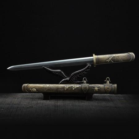 Fully Copper Handmade Pattern Steel Tanto Swords