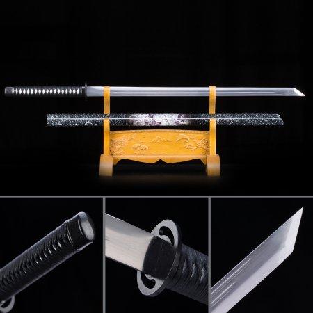 Handmade High Manganese Steel Straight Blade Chokuto Japanese Ninjata Swords With Dragon Scabbard