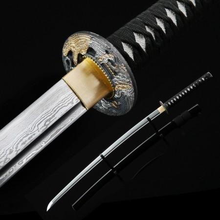 Handmade Eagle Pattern Tsuba Real Katana Japanese Samurai Swords