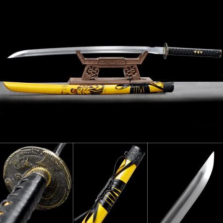 Handmade Spring Steel  Phoenix Tsuba Real Japanese Katana Samurai Swords