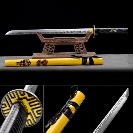 Handmade High Manganese Steel Yellow Saya Real Japanese Ninjato Ninja Swords