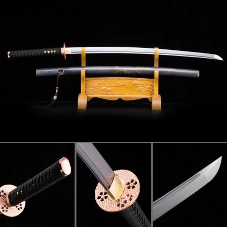 Handmade Pattern Steel Gray Saya Sharpened Real Japanese Katana Samurai Swords