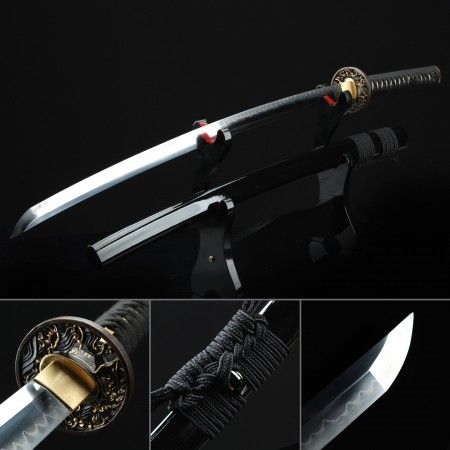 Battle Ready Sword, Authentic Japanese Katana Pattern Steel Full Tang Tactical Swords