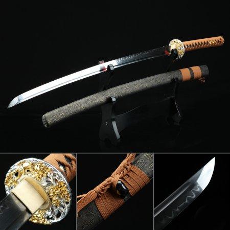 Bronze Chinese Character Theme Handmade Real Hamon Katana Samurai Swords