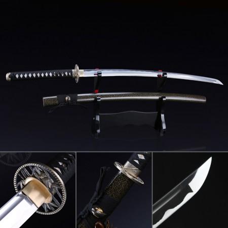 Handmade Full Tang Carbon Steel Japanese Samurai Sword Katata