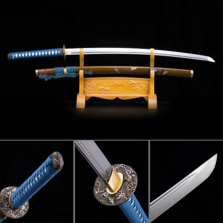 High-performance T10 Carbon Steel Brown Saya Sharpened Real Hamon Japanese Katana Samurai Swords